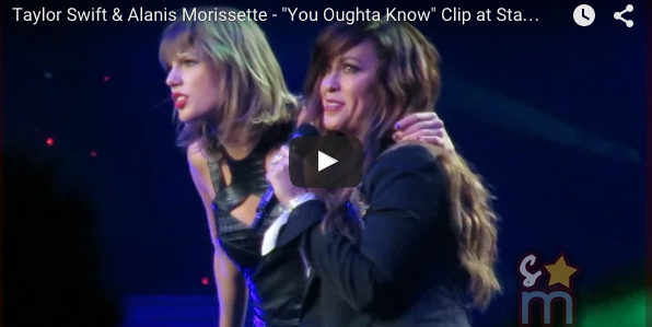 Taylor Swift and Alanis Morissette together on stage