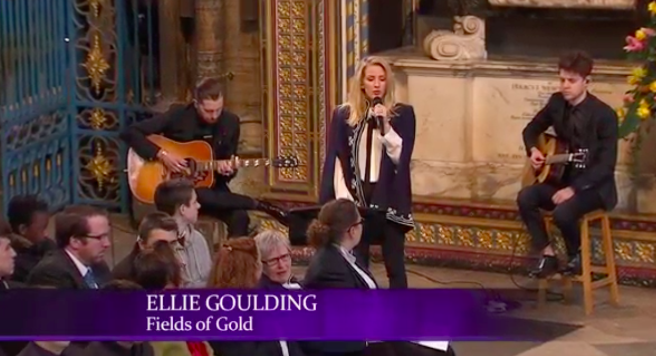 Ellie Goulding Performs for the Queen of England