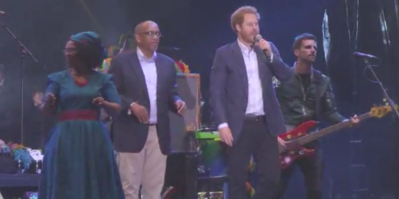 Coldplay and Prince Harry Together Onstage