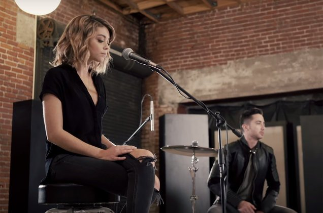 "Sarah Hyland Joins Boyce Avenue for a Cover of ""Closer"""