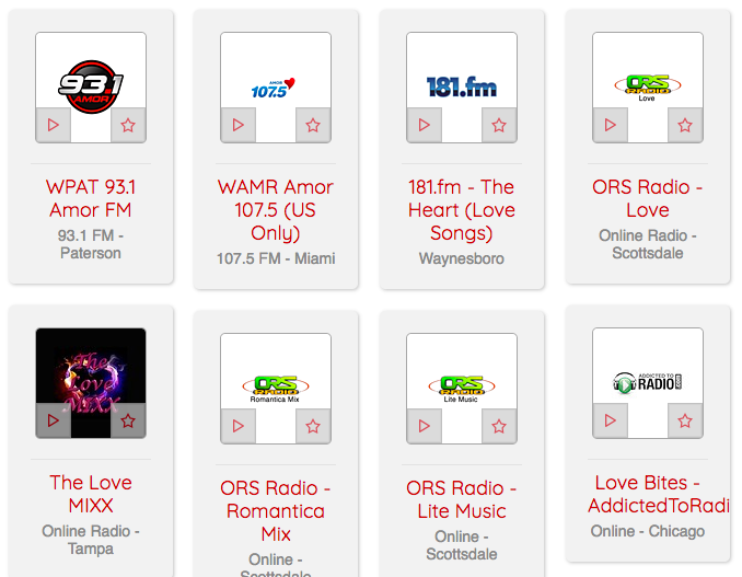 The Most Romantic Radio Stations on myTuner Radio